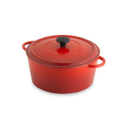 Fontignac Round 5-Quart Casserole in Red