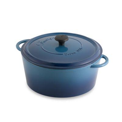 Fontignac Round 6.5-Quart Casserole in Blue