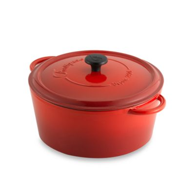 Fontignac Round 6.5-Quart Casserole in Red