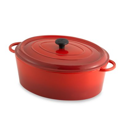 Fontignac Oval 8-Quart Casserole in Red