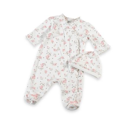 Basic Layette > Little Me Vintage Rose Footie with Cap