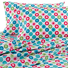 Self Expressions Pop Circles Sheet Set, 100% Cotton, 270 Thread Count
