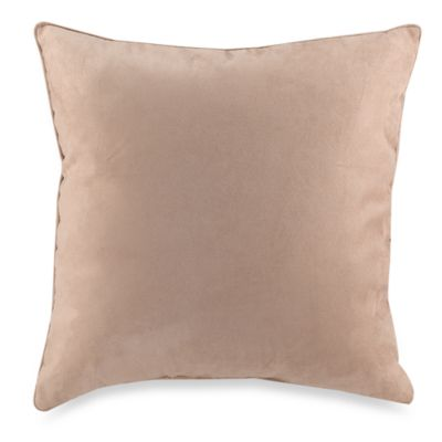 Suede 20-Inch Square Throw Pillow in Sandstone
