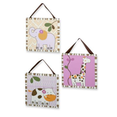 CoCaLo™ Baby Jacana Canvas 3-Piece Wall Art