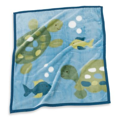 CoCaLo Baby® Turtle Reef Soft and Cozy Blanket