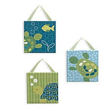 CoCaLo Baby® Turtle Reef 3-Piece Canvas Wall Art