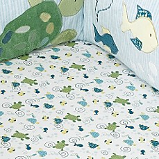 CoCaLo Baby® Turtle Reef Fitted Crib Sheet