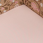 DwellStudio® Garden Blossom Check Fitted Crib Sheet, 100% Cotton, 300 Thread Count