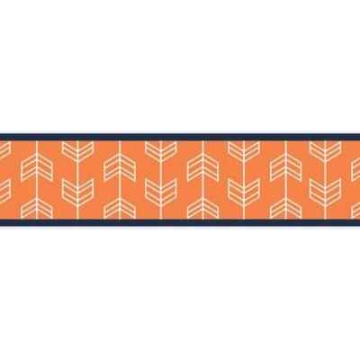 Sweet Jojo Designs Arrow Wallpaper Border in Orange/Navy