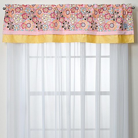 Kathy Ireland Home Sweetie Pink Crystals Valance