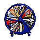 Rakkiddo Kid's Shoe Wheel - Blue