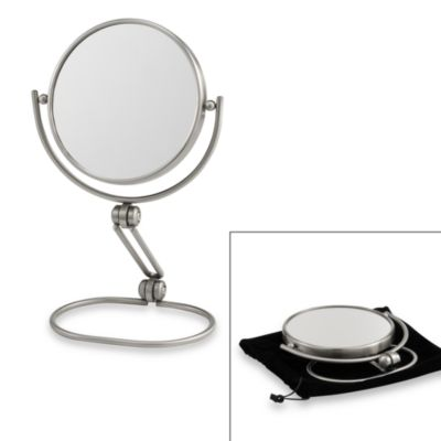 Jerdon® Model's Choice 1X/10X Folding Travel Mirror