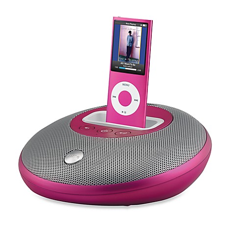 sound system for ipod pink this trendy portable ipod sound system