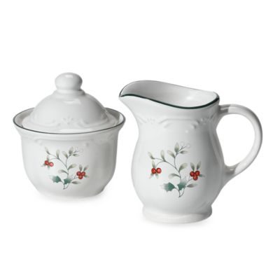 Pfaltzgraff® Winterberry Covered Sugar and Creamer Set