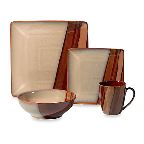 Sango Avanti Brown 16-Piece Dinnerware Set