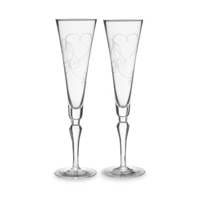 Mikasa® Love Story Toasting Flutes (Set of 2)
