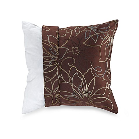 make your own pillow large flower brown pillow cover bed bath beyond. Black Bedroom Furniture Sets. Home Design Ideas