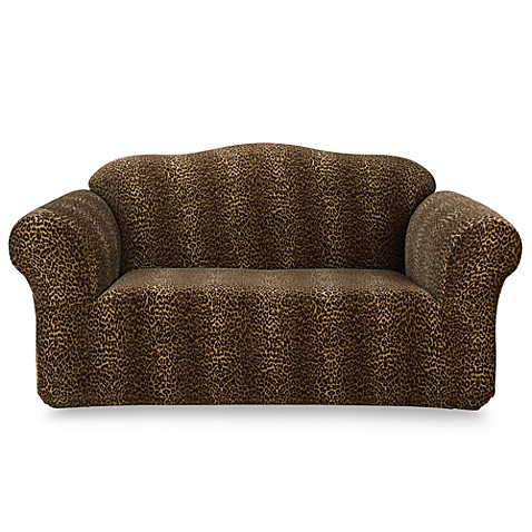 Stretch Leopard Loveseat Furniture Slipcover By Sure Fit Bed Bath Beyond