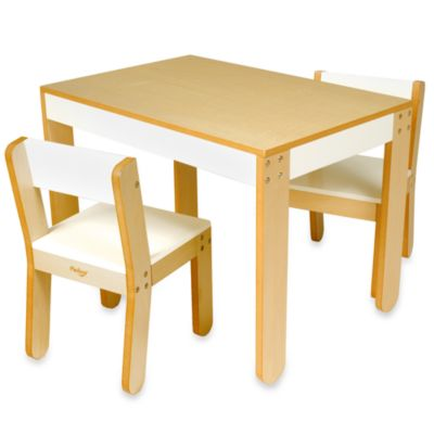 P'kolino® Little One's White Table and Chairs