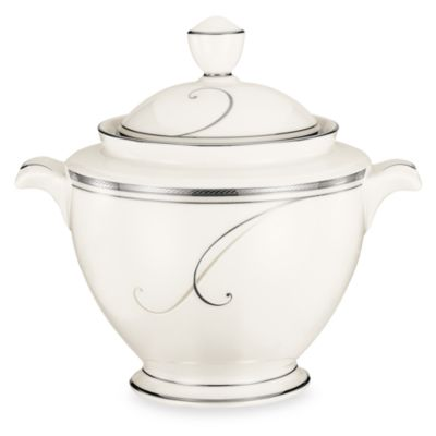 Noritake® Platinum Wave 8 1/2-Inch Sugar Bowl