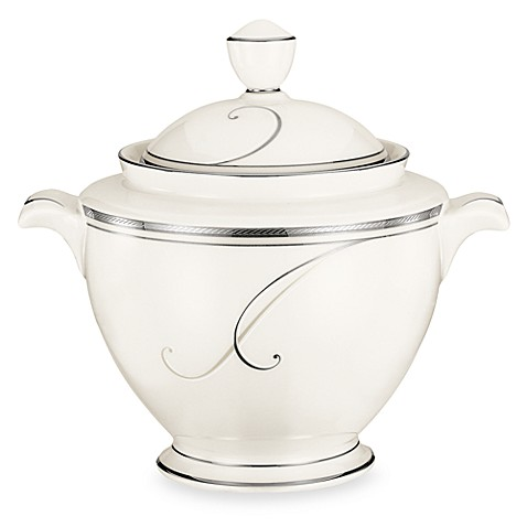 Noritake® Platinum Wave Covered Sugar Bowl