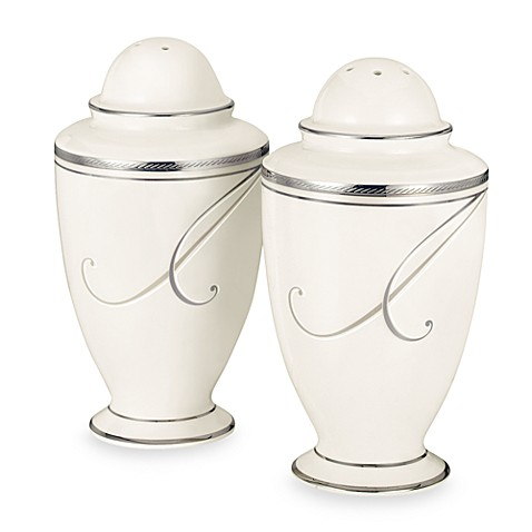 Noritake® Platinum Wave Salt and Pepper Shakers