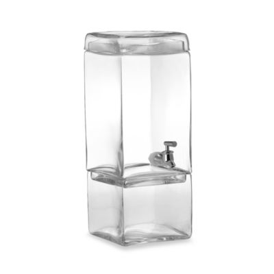 Godinger Dublin Crystal Square 1-Gallon Beverage Dispenser