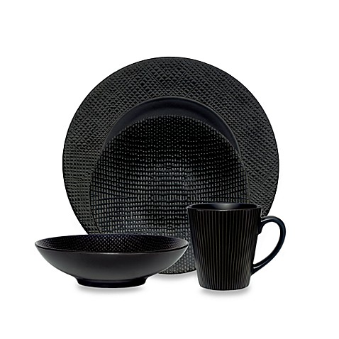 Noritake Black Pepper 4-Piece Place Setting
