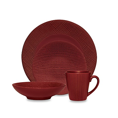 Noritake Red Pepper 4-Piece Place Setting