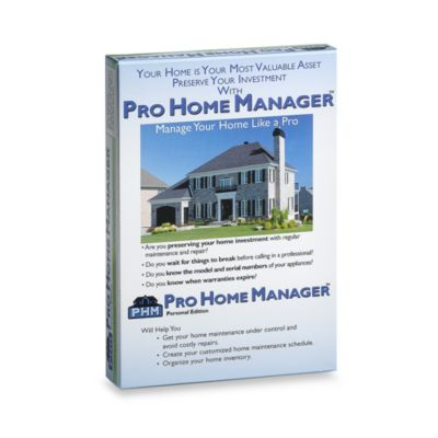 Pro Home Manager™ Personal Edition™ Home Management CD