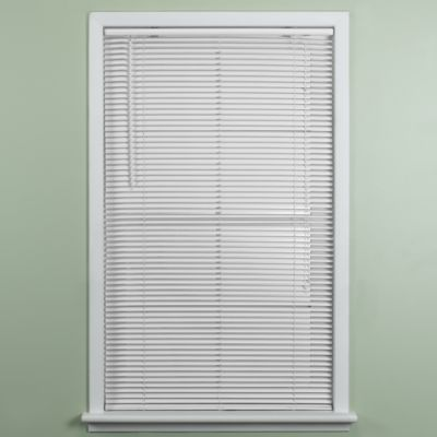 Deluxe Sundown White 1-Inch Room Darkening Mini Blind