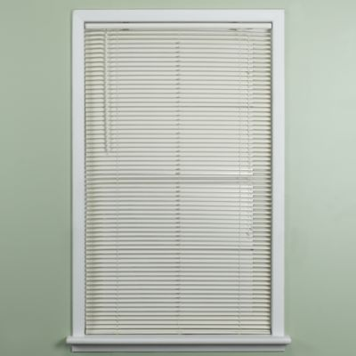 Deluxe Sundown 1-Inch Room Darkening 23-Inch W x 64-Inch L Mini Blind in Alabaster