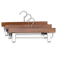 Real Trouser Hanger with Clips (Set of 3)