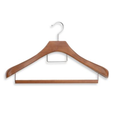 Real Suit Hanger with Wooden Pants Bar