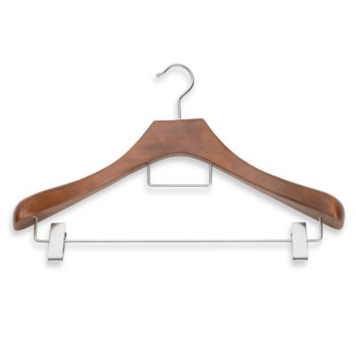 Real Suit Hanger with Metal Clips