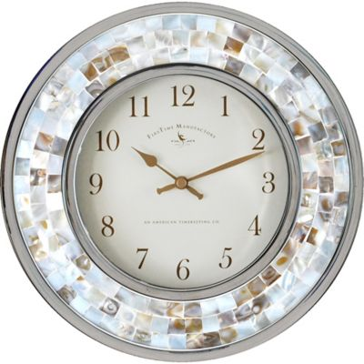 First Time Manufacturing Pearl Mosaic 10 1/4-Inch Wall Clock