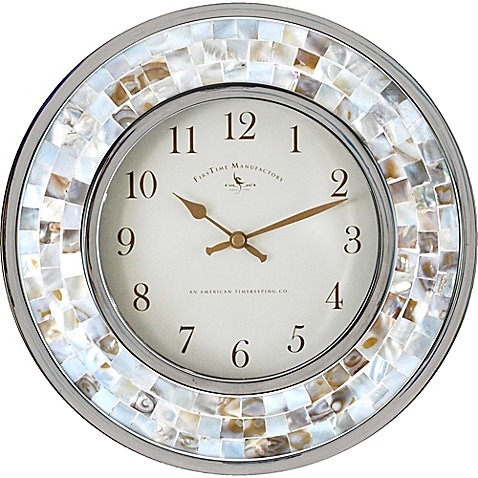 FirsTime® Pearl Mosaic 10 1/4-Inch Wall Clock