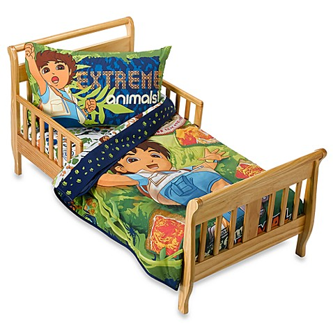 Go diego go extreme animal adventure 4 piece toddler bed for Go diego go bedding