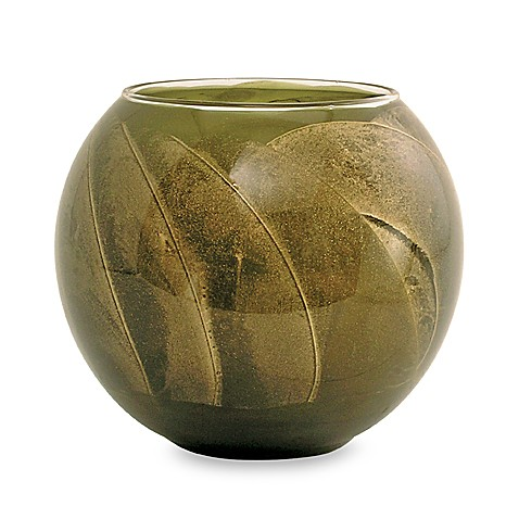 Esque Olive 4-Inch Globe Candle