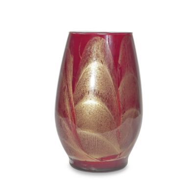 Esque Cranberry 9-Inch Vase Candle