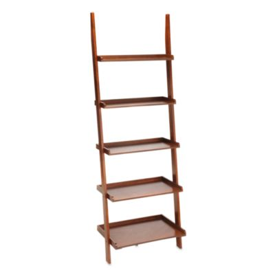 American Heritage Ladder Bookcase in Black