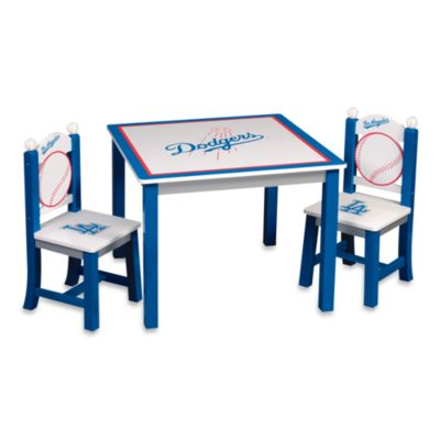 Major League Baseball Dodgers Table and Chairs Set
