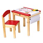 Guidecraft Art Table and Chair Set in Red