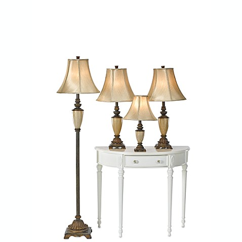 tuscan 4 piece lamp set this decorative lamp set brings. Black Bedroom Furniture Sets. Home Design Ideas