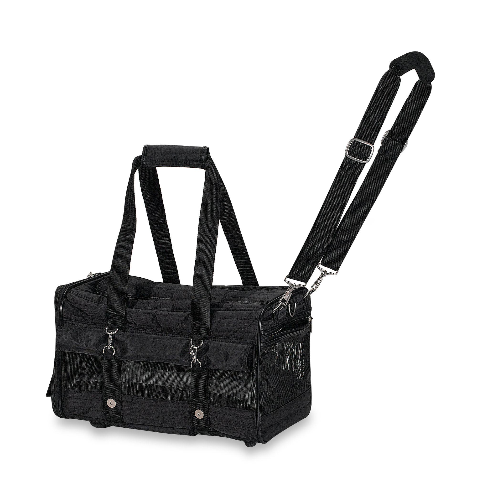 Shoulder Bag Pet Carrier With Fur Trim 8