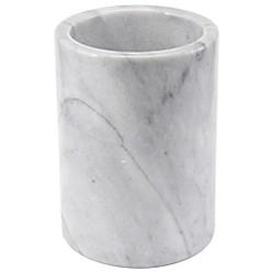 Marble Utensil Crock In White by Artisanal Kitchen Supply
