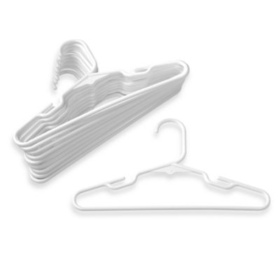 Plastic Children's Clothes Hangers (Set of 10) - White