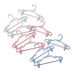 Plastic Children's Clothes Hangers with Clips (Set of 3)