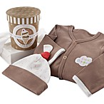 Baby Aspen Sweet Dreamzzz A Pint of PJs Sleep-Time Gift Set 100% Cotton in Chocolate