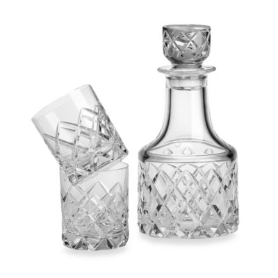 Orrefors Sofiero 3-Piece Decanter Set